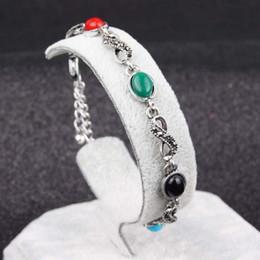 Canada Hot Products Ethnique bracelet antique argent diamant gemme alliage bracelet en gros Européenne et Américain mode femmes bijoux cheap european wholesale products Offre