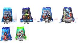 Wholesale Avengers Backpack Kids - 2016 Children Drawstring Bags Cartoon The Avengers Superhero Backpack Kids School Bag Handbag 6 colors for choices