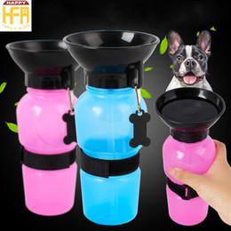 Wholesale Drink Bottles Dog - 500ML Auto Dog Mug Puppy Travel Walking Hiking Pink Blue Dog Mug Pets Drinking Bottles Auto Dog Feeder Drop Shipping