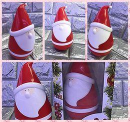 Wholesale Bass Electronics - Free DHL Mini Tumbler Santa Claus Bluetooth Speaker Wireless Smart Bluetooth Bass Music Speaker Audio Speaker for Christmas