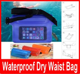 Wholesale Waterproof Key Pouch - Waterproof Swim Waist Belt Bag Case Cover For All Cell Phone Camera Keys Money Waterproof Dry Bag Pouch with Waist Strap