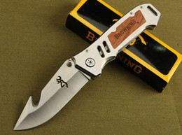 Wholesale Rescue Blades - Browning AT-11 X50 X49 354 DA30 X23 CUT counter strike Rescue Bowie Knife Camping Hunting Rescue Knife Tactical hunting camping knife