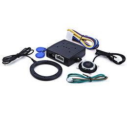 Блокировка входа rfid онлайн-Новый двигатель автомобиля кнопка пуска RFID замок зажигания стартер бесключевой вход Старт Стоп иммобилайзер сигнализации безопасности вождения
