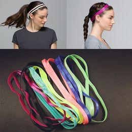Wholesale Hair Rubber Band Rope - Wholesale-1pcs Women Yoga Fitness Hair band rope Headband Anti-slip Elastic Rubber Sweatband Soccer Running Sports Headwear Free Shipping