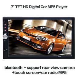 """honda civic dvd tv gps Promotion Universal 2-DIN DVD de voiture 7 """"Lecteur vidéo de voiture Bluetooth Mains libres Ecran tactile Panneau Télécommande Lecteur audio de voiture Support FM / MP5 / USB / AUX"""