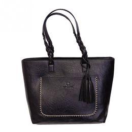 Wholesale Brown Bucket Handbags - 2017 New Tassel Handbag Vintage Hobo Shoulder Bag Tote Bag Women Fashion Bags 4 Colors for Choice