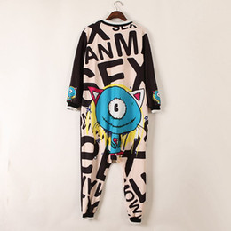 Wholesale cute women jumpsuits - Wholesale- 2017 Boo Ace Hip-hop Baggy Casual Anime Cute Printed Jumpsuit Women Hippie Rompers Womens Jumpsuit Free Size 307202