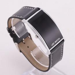 Wholesale Led Plastic Watch - 2017 New Style Fashion Digital LED Wrist Watch Women Wristwatch Black Fashion LED Watch For Ladies Plastic Bracelet Digital Wristwatches