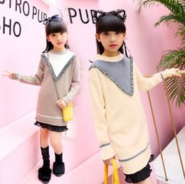 Wholesale Cartoon Characters Sweaters - Autumn Winter Children Cotton Sweaters Pullover Kids Cartoon Thick Sweater Long Top Child Fashion Dress Clothes
