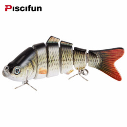 3d fishing lure eyes Promo Codes - Piscifun Fishing Lure 10cm 20g 3D Eyes 6-Segment Lifelike Fishing Hard Lure Crankbait With 2 Hook Fishing Baits Pesca Cebo