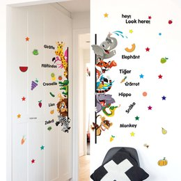 Wholesale Kids Cartoon Bedroom Furniture - Fast delivery-Cartoon animals DIY decorative wall sticker door stickers and furniture stickers for kids room 50*70CM size 1pc opp bag pack