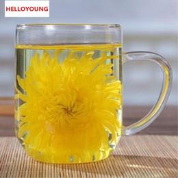 Tè del fiore del crisantemo online-Preferenza Specialità cinese Tisana Sfuso Essiccato 4 pezzi Fiori di crisantemo Tè Nuovo tè profumato Alimenti verdi di prima qualità