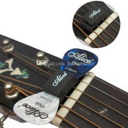 guitarra baixa da porca Desconto 1 PC Preto Guitarra HeadStock Pick Holder Borracha E00377 OSTH