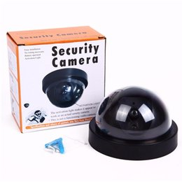 Wholesale Dummy Wireless Outdoor Surveillance Camera - Security Camera indoor outdoor Fake Dummy Camera Wireless Dome Surveillance CCTV Camera with Blinking IR LED