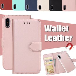 Wholesale Note Case Retro - For iPhone X 2 in 1 Magnetic Magnet Detachable Removable Wallet Leather Retro Case Cover For iPhone 8 7 Plus 6 6S Samsung S8 S7 Edge Note 8