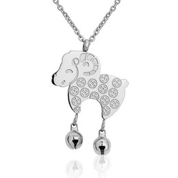 Wholesale Korean Small Pendant Necklace - 2015 new fashion trend of Korean hot chain transfer sheep girls Ms. clavicular small accessories N746 titanium