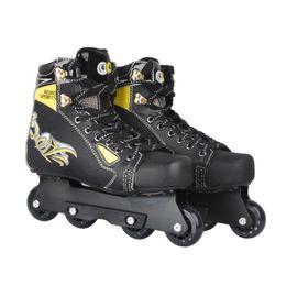 Wholesale Slalom Inline Skates - Wholesale- Inline Professional Adult Slalom Stunt Ice Skating Shoes Adjustable Washable Paint PU Wheels Soft Liner Breathable Adulto