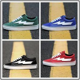 Wholesale Light Blue Skateboard - Revenge X Storm old skool Classic black white red blue green light men and women Casual Shoes sneakers skateboard shoes size36-44