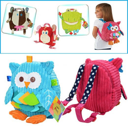 Wholesale Baby Snacks - 25cm Children SOZZY School Bags Lovely Cartoon Animals Backpacks Baby Plush Shoulder Bag Schoolbag Toddler Snacks Book Bags Kids Gift b1409