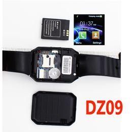 Gsm сотовые телефоны сим-карты онлайн-бесплатный корабль смарт-часы телефон DZ09 Bluetooth камеры наручные часы поддержка TF / SIM-карты GSM вызова носимых Smartwatch для IOS Android мобильных телефонов