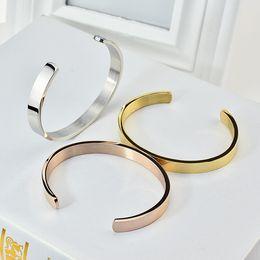 c armbänder Rabatt C Form Edelstahl neue Armreifen Designs Offene Armbänder, pulseiras para als Mulheres Damenmode Armband hochwertige Marke