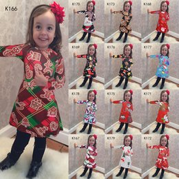 Wholesale Hot Santa Costume - 2016 hot style Christmas costume party female children's wear children's Christmas dress Wholesale Clothing New Casual Dresses