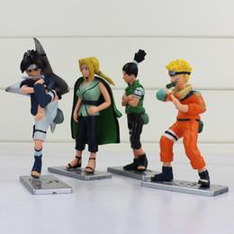 Wholesale Naruto Figure New - New 4pcs lot Naruto Uzumaki Naruto Tsunade Uchiha Sasuke Nara Shikamaru PVC Action Figures Collectible Model Toys Free shipping