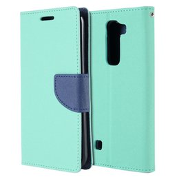 Wholesale Leather Folding Phone Wallet Case - PU Leather Case Defender Folding Stand Phone Cover Folio Wallet for LG K7 Tribute 5 M1 LS675 LG K10 (50PCS Color At Least)