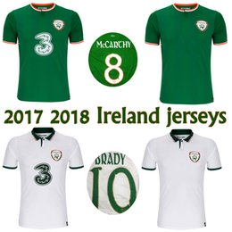 Wholesale Green Soccer Team Jersey - 2017 2018 Ireland soccer jerseys Republic of Ireland national team jerseys 2018 World Cup Ireland KEANE Daryl home away football shirts