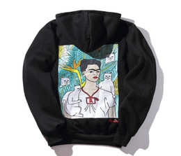 Wholesale Cheap Brand Hoodies - Men's Hoodies Latest designer Brand Cartoon Fred's famous spoof Cheap cat Hip-hop aup men and women hat hooded sweater