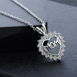 Wholesale S Heart Necklace - New Fashion Mother 's Day gift mom love diamond necklace hot jewelry