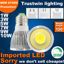 Wholesale Mr16 Led Warranty - 3 years warranty 110V 220V 12V edison bulb PAR16 MR11 E14 E27 E26 GU5.3 dimmable COB LED spotlight GU10 MR16