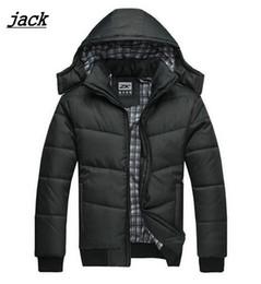 Wholesale Puffer Jacket Men - Fall-Winter Coat Men black puffer jacket warm male overcoat parka outwear cotton padded hooded down coat men's cotton jackets VC2630