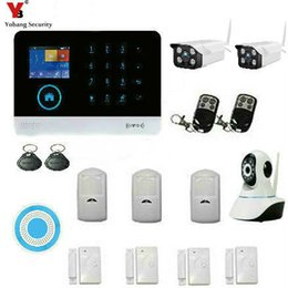 Wholesale Auto Dialer Wireless Home Security - Wholesale- YobangSecurity Wireless GSM WIFI Portable Auto Dialer DIY Home Alarm System + Wireless WIFI Outdoor Indoor IP Security Camera