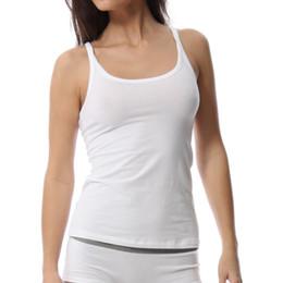 Wholesale Tank Top Undershirts Women - Wholesale-Undershirt for Women 95% Modal 5% Spandex Women's Camisole Tank Top Blouse Sexy Underwear Gootuch 2457