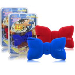 spia vocale Sconti Moda Anime Detective Conan Cosplay Puntelli Commutatore vocale Papillon suono variabile Cravatte per i bambini Regalo Blu / Rosso
