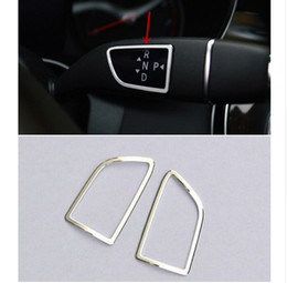 Wholesale Decorative Rods - 2pcs Car Steering Shift Rod+Wiper Decorative Cover Trim Interior Molding For Mercedes Benz GL X166 ML W166 2012-2015