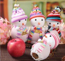 Wholesale Apple Favours - Lovely Snowman Christmas Eve Wedding Favour Candy Bag Gift Apple Candy Bags Wrapping Papers Fruit Christmas Bag