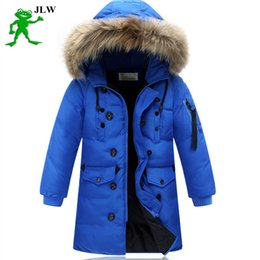 Wholesale Childrens Down Jackets - High quality 2016 boy's long for youth children cuhk more down jacket boy winter childrens fur coat boys parka kids clothes 587