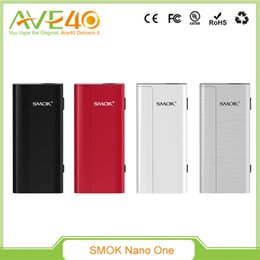 Wholesale Cigarette Steam - 100%Original Smok Nano One Starter Kit Vape Kit E Cigarette VW TC 80W R Steam Mini Mod With Nano TFV4 Vs Kanger Dripbox Kit