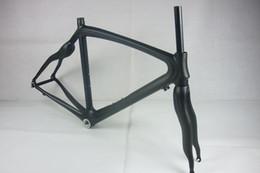 Wholesale Carbon Road Bike Frame 48 - Carbon Frame Bicycle Frame Orange Painting 3K Weave With Bottom Frame Glossy Matt 48 50 52 54CM