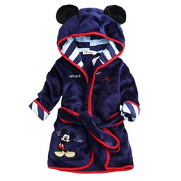 Wholesale Children Animal Robes - Designs Cartoon Character Bath Towels Hooded Model Baby Bathrobe Coral Fleece Kids Girls Boys Christmas Pajams Cute Children Bathing Robes