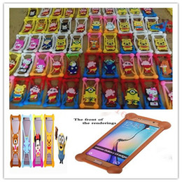 Wholesale Soft Silicone Frame Iphone - Universa Mobile Phone Silicone Case 3D Cute Soft Cartoon Universal Soft Frame For Iphone 6 6S 6 Plus Samsung Galaxy S7 All The Cell Phon