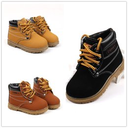 Wholesale Boot Cross - Kids warm martin boots 3 colors spring autumn winter infants lace-up shoes for boys girls 1-5T