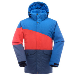 Wholesale Men Snowboard Set - Wholesale-2016new ski suits men's jackets+pants snowboard clothes,skiing jacket sports Waterproof Windproof Breathable Sets skiing