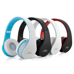 Wholesale Dj Foldable - nx-8252 Foldable DJ Bluetooth Wireless Headphone Hi-fi Stereo Earphone Noise Cancelling Headset With Mic For Smart Phones With Retail Box