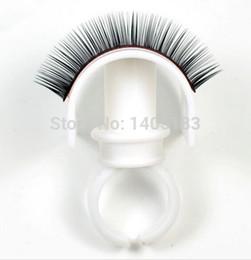 Wholesale Natural Eyelash Glue - Wholesale-10 pcs New Eyelash Extension Glue Ring Adhesive Eyelash Pallet Holder Set Makeup Kit Tool Make up free shipping