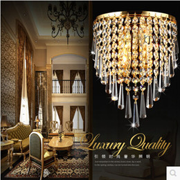 Wholesale Wall Light Crystal Fixtures - Modern Crystal Chandelier Wall Light Lighting Fixture AC110V AC220V AC85-265V E14 LED Wall Lamps for home lighting