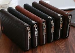 Wholesale Hand Wrist Wallet - Men's Brand Long Wallet Fashion Multi-card Wrist Strap Hand Bag Designer Best Quality Card Bag Imported Holders Wallet Accessories