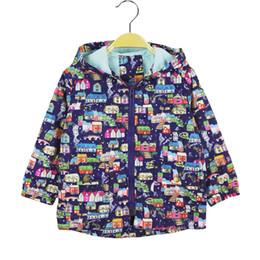 Wholesale Canvas Paint Autumn - 2017 New children hoodies clothing 2-7T spring autumn boys & girls hooded jackets coats casual Hand-painted house outerwear boys
